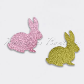 Glitter Fabric Rabbits